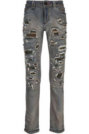Philipp Plein Camouflage-print slim-fit jeans