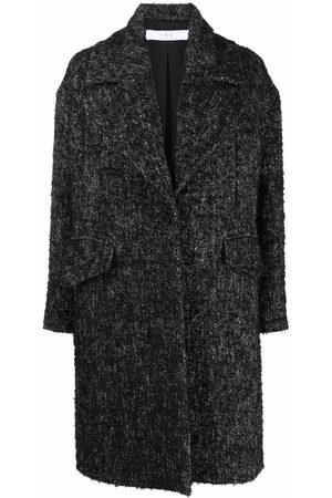 IRO Dames Donsjassen - Textured tweed single-breasted coat