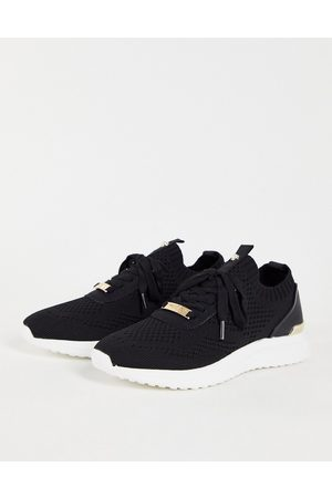 Miss KG Kallie knitted trainers in back-Black
