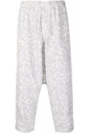 Comme des Garçons Leopard-print cropped trousers