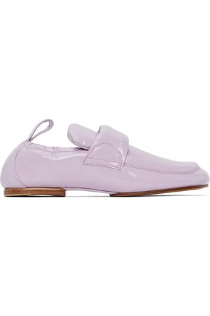 DRIES VAN NOTEN Purple Patent Leather Padded Loafers