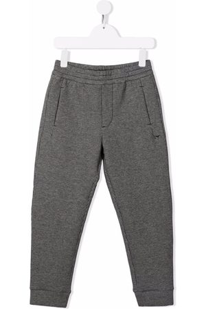 Emporio Armani Houndstooth pattern track pants