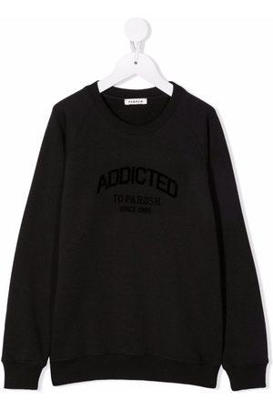 P.a.r.o.s.h. Slogan-print crew-neck sweatshirt