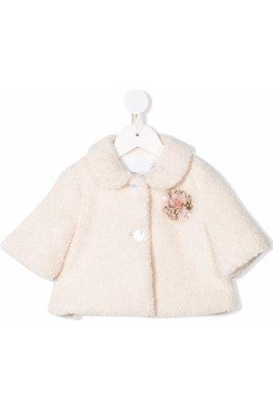 COLORICHIARI Donsjassen - Flower-applique jacket