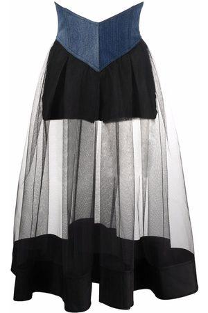 Pinko High-waisted multi-panel skirt