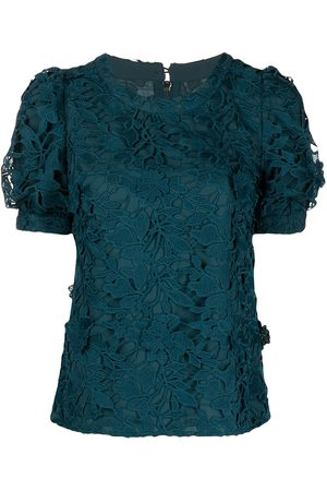 Marchesa Notte Dames Feestjurken - Guipure floral lace midi dress