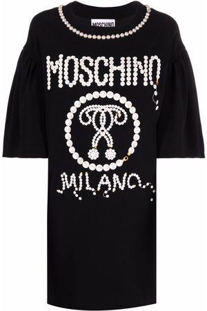 Moschino Pearl-embellished T-shirt dress