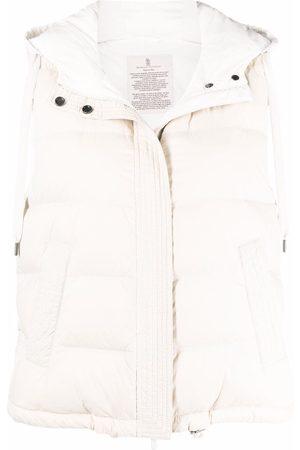 Brunello Cucinelli Dames Bodywarmers - Padded hooded gilet