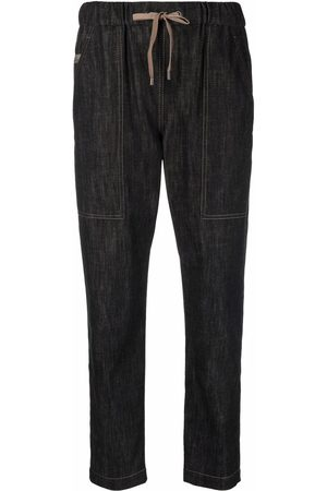 Brunello Cucinelli Dames Tapered - Drawstring tapered-leg jeans