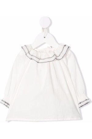 BONPOINT Whipstitch-trim blouse