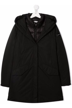 Woolrich Layered hooded coat