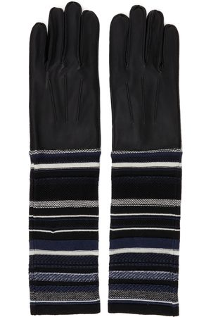 Bed J.W. Ford Black Lambskin Knit Gloves