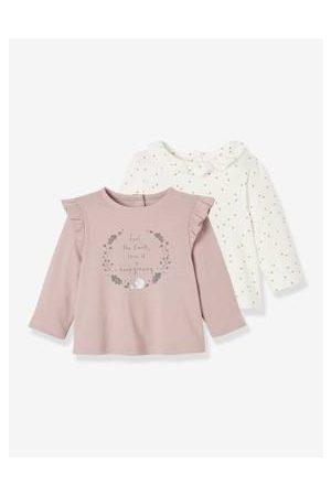 Vertbaudet Baby Lange mouw - Set van 2 baby T-shirts met lange mouwen