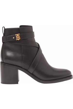 Burberry TB plaque ankle boots