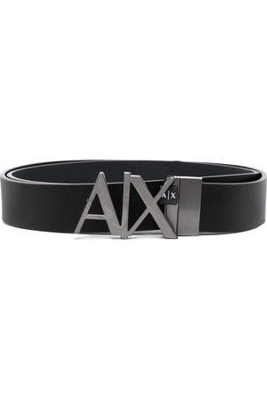 Armani Heren Riemen - Logo plaque leather belt