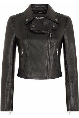 Dolce & Gabbana Zip-fastening leather jacket