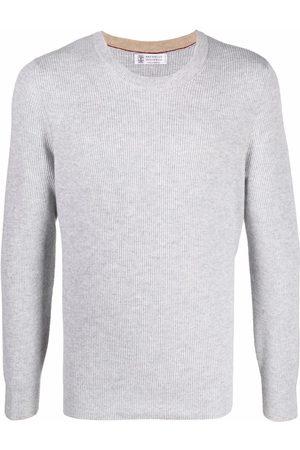 Brunello Cucinelli Heren Gebreide truien - Ribbed-knit cashmere jumper