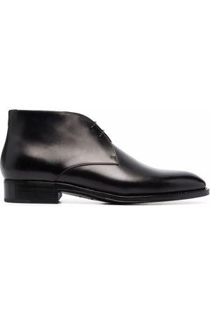Saint Laurent Heren Enkellaarzen - Adrien lace-up almond-toe ankle boots