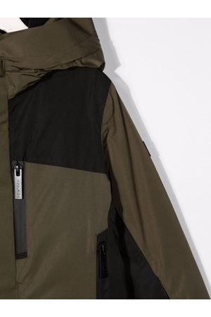 Woolrich Hooded colour-block jacket