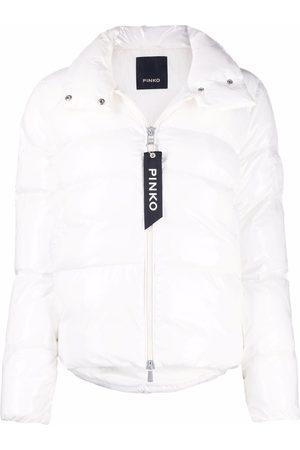 Pinko Padded logo-embossed jacket