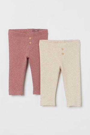 H&M Set van 2 geribde leggings