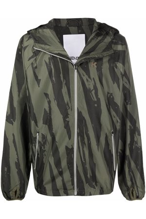 Kenzo Camouflage-print logo patch jacket