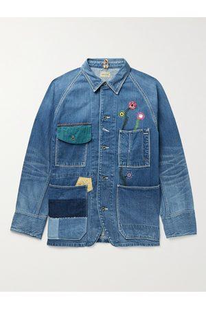 KAPITAL Appliquéd Embellished Denim Jacket