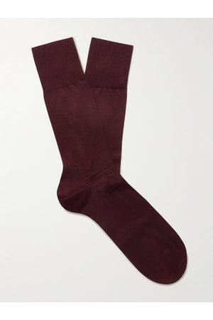Falke Heren Sokken - No 4 Mulberry Silk-Blend Socks