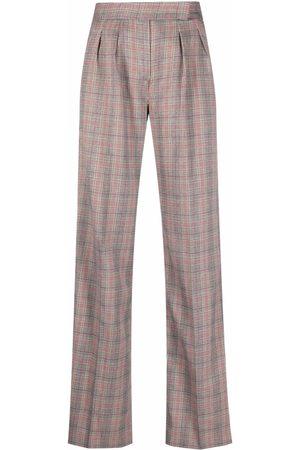 Liu Jo Dames Wijde broeken - Check-print trousers
