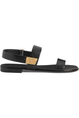 Giuseppe Zanotti Shaun logo-plaque sandals