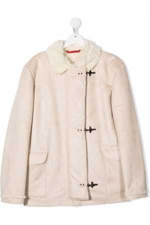 FAY KIDS TEEN faux-shearling trimmed jacket