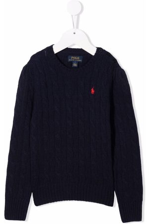 Ralph Lauren Polo Pony cable-knit jumper