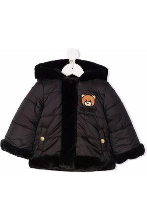 Moschino Donsjassen - Padded faux fur-trimmed coat