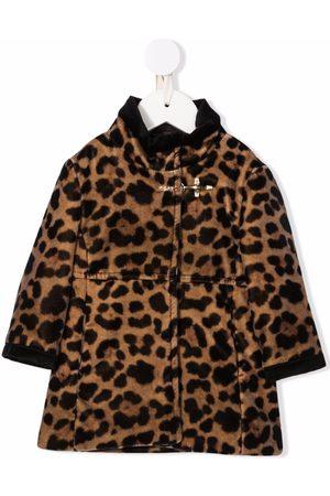 FAY KIDS Bontjassen - Leopard-print faux-fur coat