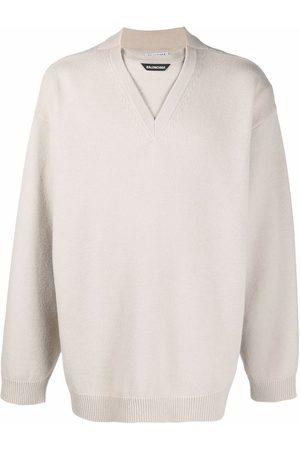 Balenciaga Logo-patch wool jumper
