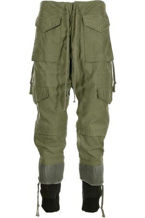 GREG LAUREN Military jacket panelled trousers