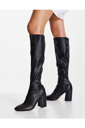 London Rebel Dames Hoge laarzen - Over the knee sock boots in black