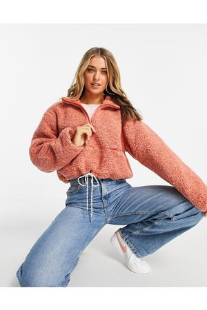 French Connection Dames Cropped fleece in pink