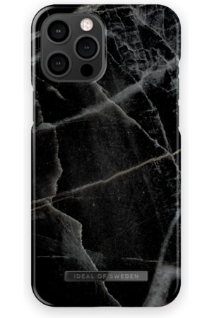 IDEAL OF SWEDEN Telefoon hoesjes - Fashion Case iPhone 12 Pro Max Black Thunder Marble