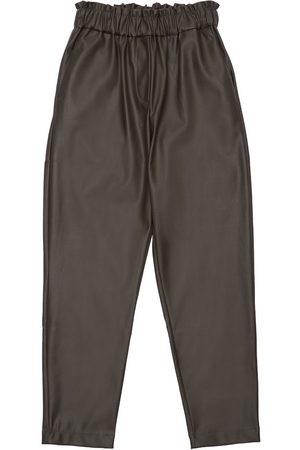 Unlabel Meisjes Leggings - Faux Leather Pants
