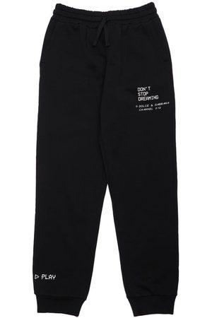 Dolce & Gabbana Meisjes Joggingbroeken - Printed Cotton Sweatpants