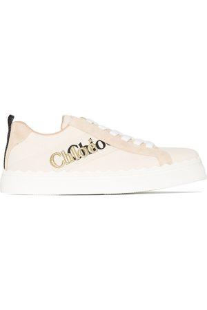 Chloé Lauren logo-print sneakers