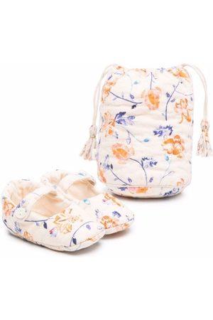 BONPOINT Floral-print crib shoes