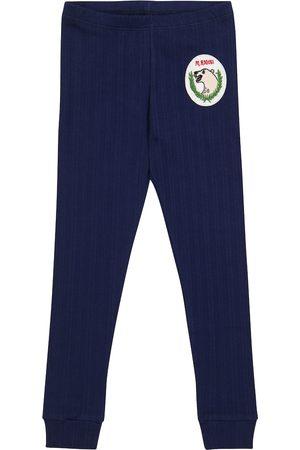 Mini Rodini Polar Bear cotton-blend leggings