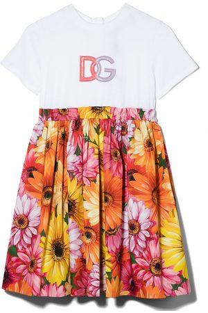 Dolce & Gabbana Floral-print flared layered dress