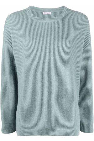 Brunello Cucinelli Ribbed-knit side-button jumper
