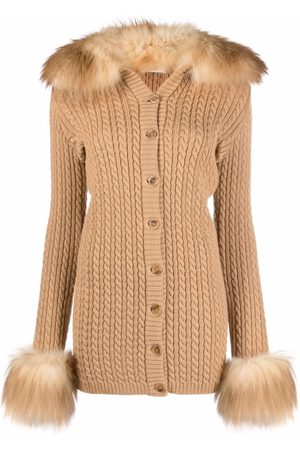 Saint Laurent Button-fastening cable-knit cardigan