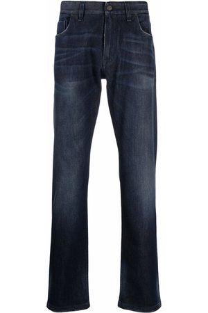 Fendi Heren Straight - Logo-embroidered straight-leg jeans