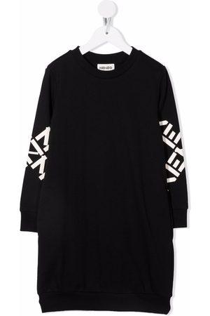 Kenzo Logo-print sleeve dress