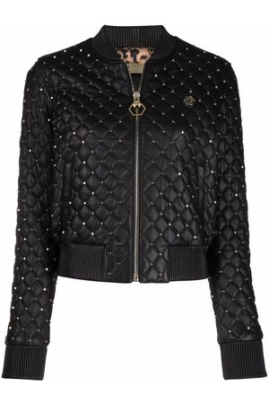 Philipp Plein Quilted studded bomber jacket